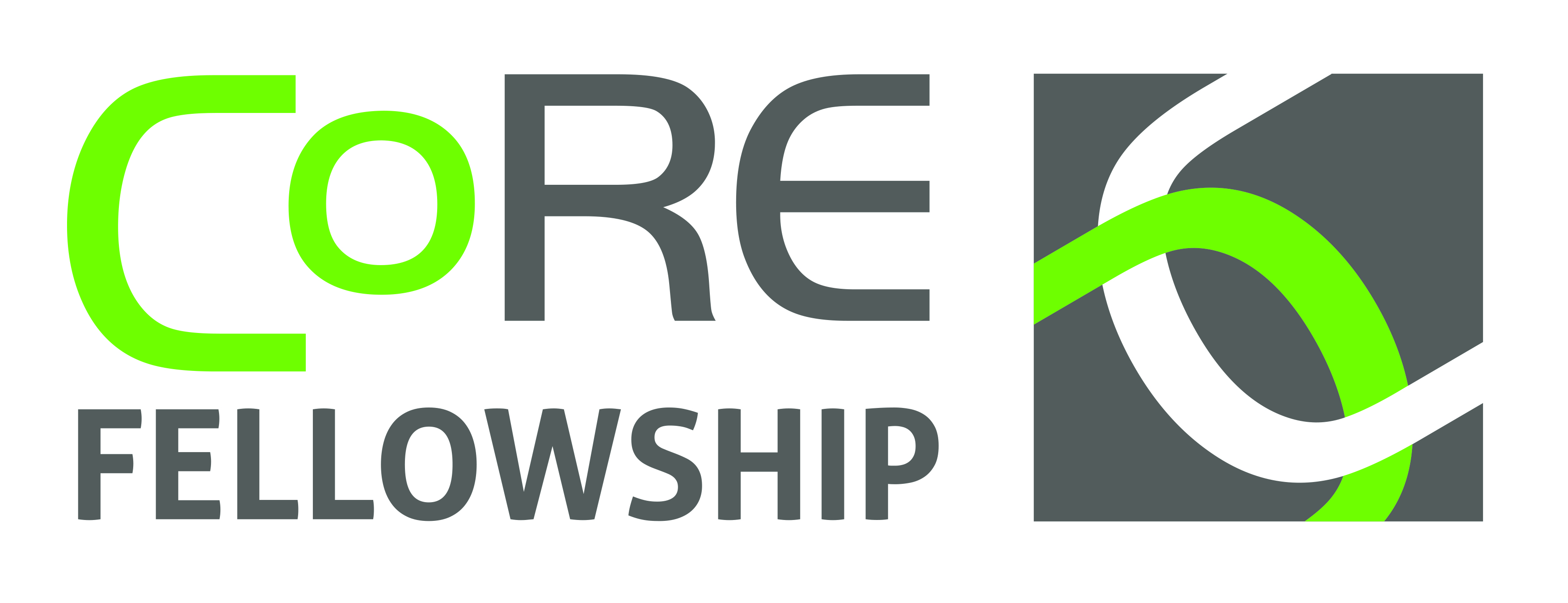 CoRE Fellowship Landscape Logo CMYK